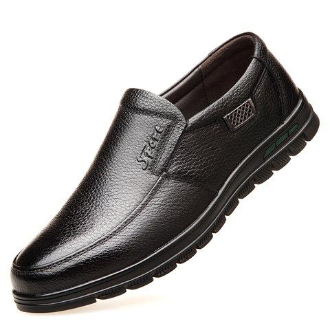 e93e04150f0 Men Genuine Leather Non-slip Soft Sole Casual Driving Shoes ...