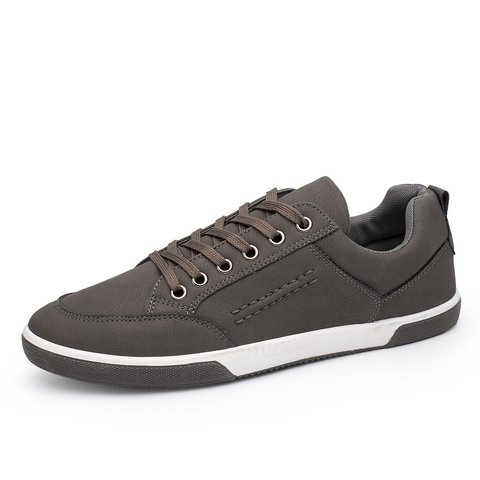 Men Pure Color Flat Lace Up Trainers Low Top CasuaL Shoes