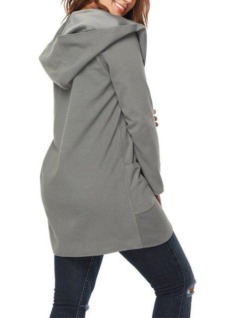 Sleeve Casual Long Casual Hoodie Cardigan Hoodie Long Sleeve 5zppBnwx