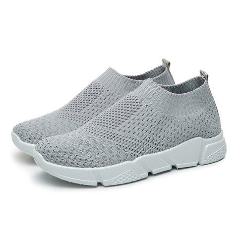 479c1acdc Breathable Elastic Cloth Sneakers Platform Slip On Sneakers ...
