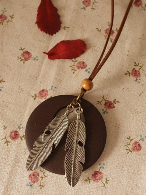 Vintage Leaf Round Necklace