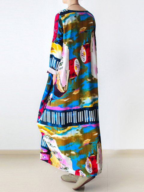 5f1f0b83d6e8 Multicolor Women Casual Dresses Cocoon Daytime Casual Abstract Dresses