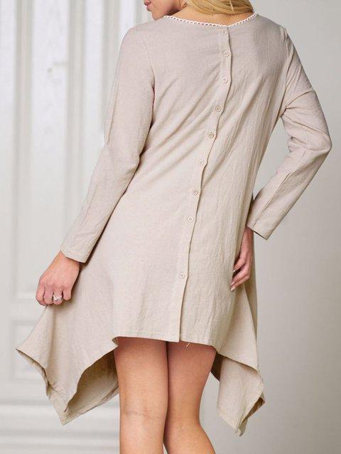 9a235dbae919f JustFashionNow Plus Size Crew Neck Women Fall Dress Asymmetrical ...