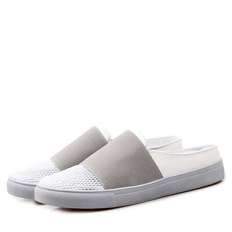 Mesh Fabric Casual Women Slip-On Slippers