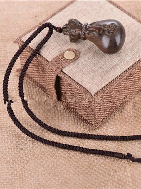 Wood Vintage Good Blessing Sweater Necklace