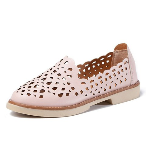 Daily PU Slip On Hollow-out Flats