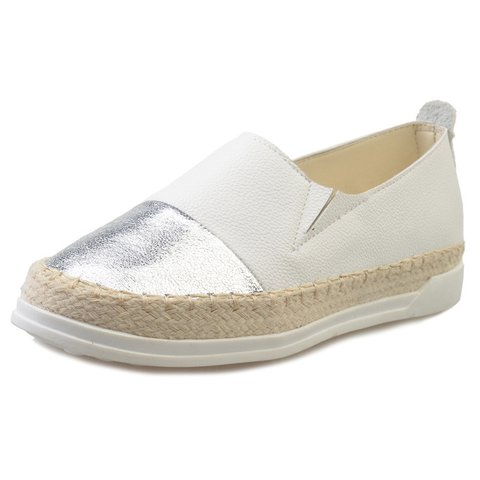 Plus Size Sparkling Glitter Casual Flat Loafers