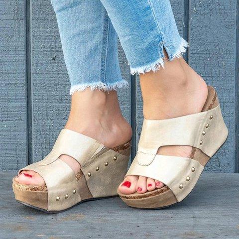 8a6058470a0f Women Shoes Platform Slippers Wedge Beach Flip Flops High Heel Slippers