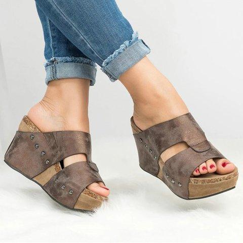 ee1ee9adc994 Women Shoes Platform Slippers Wedge Beach Flip Flops High Heel Slippers