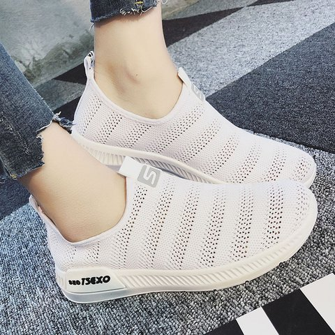 Breathable Hollow-out Sneakers All Season Mesh Fabric Sport Shoes