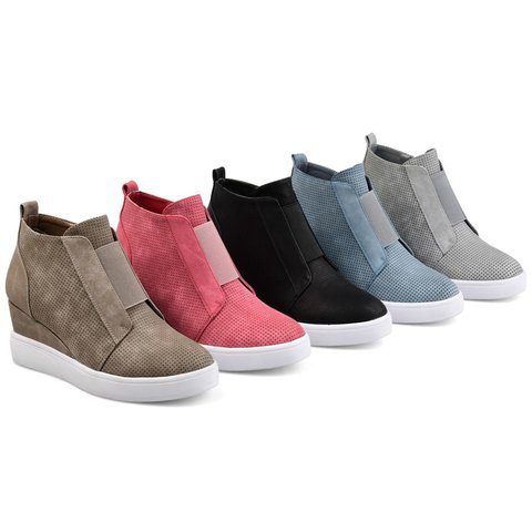 Womens Fashion Sneakers Platform Wedges Strap High Top