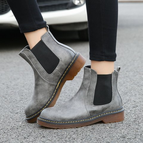 Women Chelsea Booties Casual Martin Ankle Plus Size Shoes