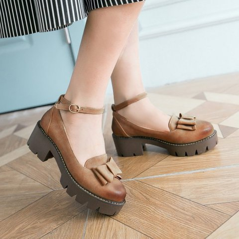 Women Chunky Heel Pumps Casual Comfort Shoes