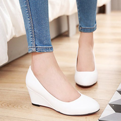 Women Wedges Slip On Casual Comfort Shoes
