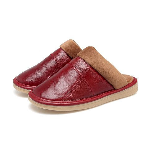 Women Warm Closed Toe Slippers Casual Comfort Shoes