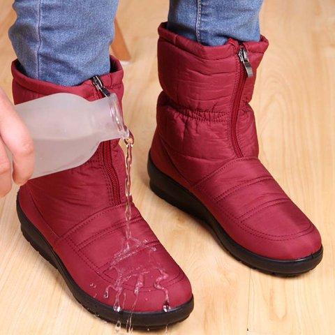 Women Snow Plus Size Unisex Booties Casual Comfort Warm Waterproof Shoes