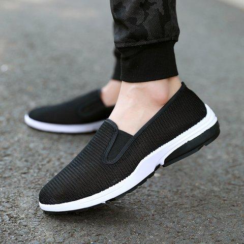 Black Casual Old Peking Flat Heel Canvas All Season Shoes