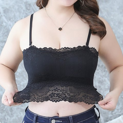 Plus Size Removable Pad Convertible Straps Bandeau