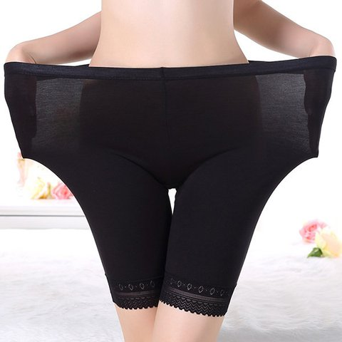 Plus Size High Waisted Safety Boyshort