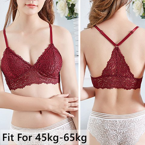 Thin Wireless Overhead Lace Bralettles