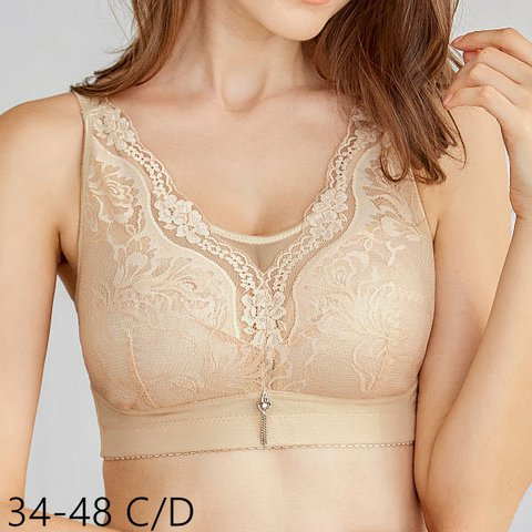 Plus Size Embroidery Full Cup Bras