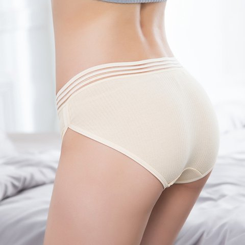 Soft Strappy Breathable Elastic Briefs