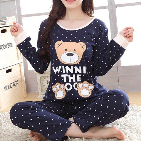 Soft Plus Size Cotton Animal Sleepwear Sets