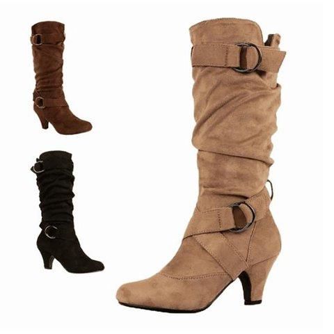 Adjustable Buckle Casual Vintage Women Boots