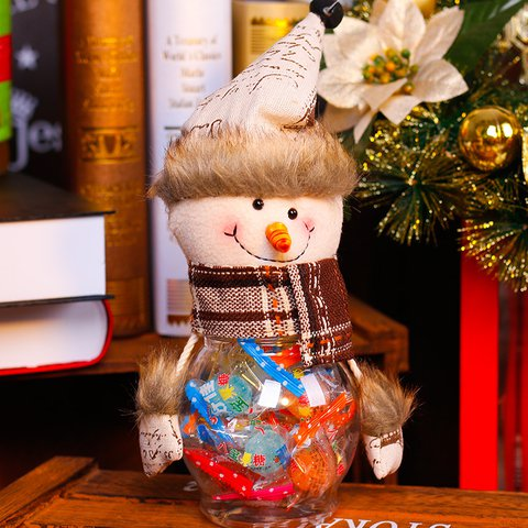 Creative Candy Jar Transparent Gifts Plastic Ornaments Christmas Decoration Supplies