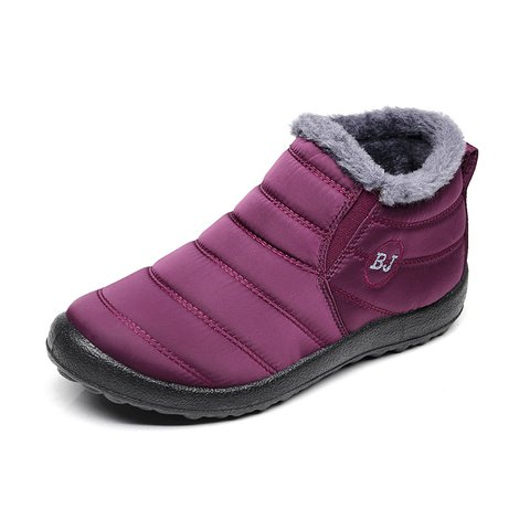 Cloth Winter Slip On Boots