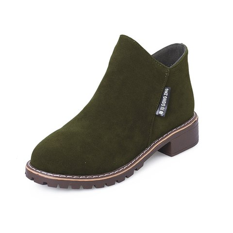 Slip-On Women's Suede Ankle Boots