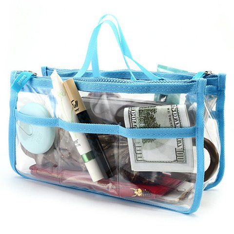 Ladies EVA Transparent Environmental Protection Cosmetic Toiletry Bags