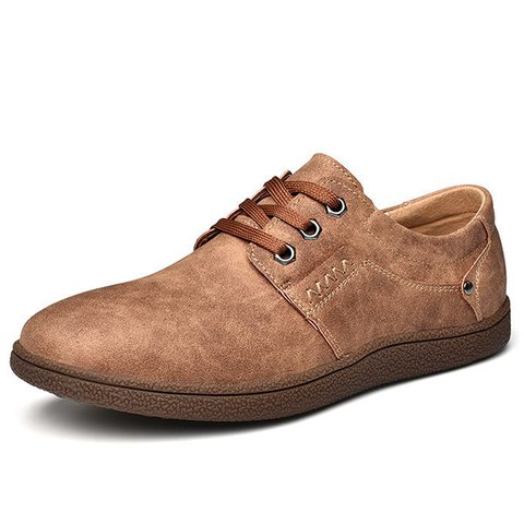 Men Microfiber Leather Non-slip Soft Sole Shoes