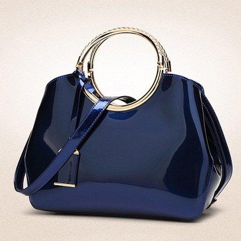 Elegant Women Bright PU Leather High Quality Handbag Shoulder Bag