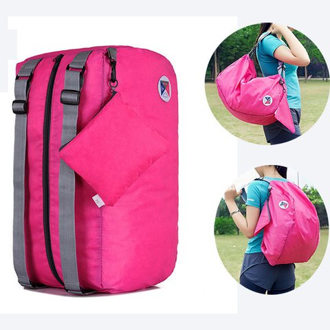 Folding Lightweight Nylon Casual Travel Backpack Cloth Storage Bags Outdoor Sports Bag