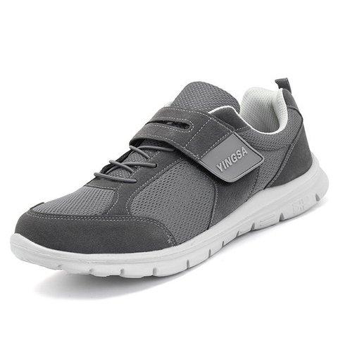 Men Hook Loop Slip Resistant Hiking Casual Cloth Shoes