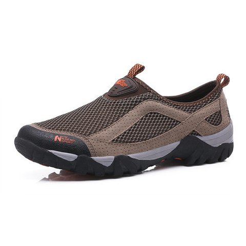 Men Mesh Fabric Breathable Outdoor Wear Resistant Sneakers