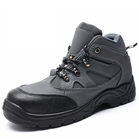 Men Steel Toe Anti Smashing Puncture Proof  Safety Outdoor Work Shoes