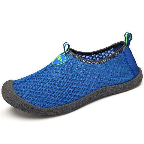 Men Mesh Fabric Breathable Soft Portable Slip On Casual Sneakers