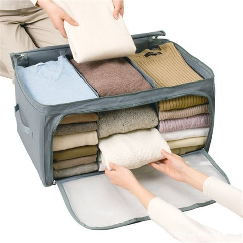 Non-woven fabrics High Capacity Clothes Quilt Storage Bags