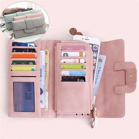 Women Fashion Large Capacity Multi-slots Card Holder Long Wallet 5.5 inch Phone Bag