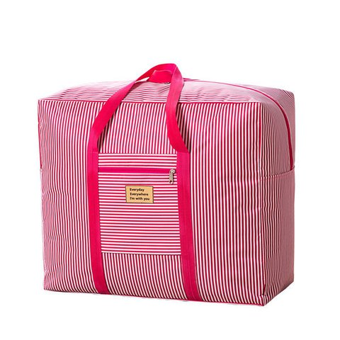 a8e5918c8d Casual Waterproof Stripe Travel Luggage Bag 20kg Large Capacity Durable  Storage Bag