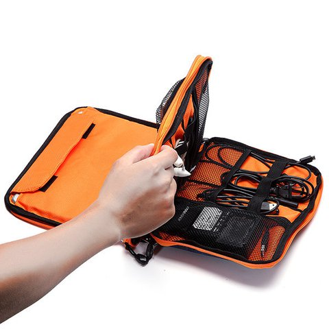 Casual Multifunctional Oxford Multi-pocket Ipad Phone Storage Bag