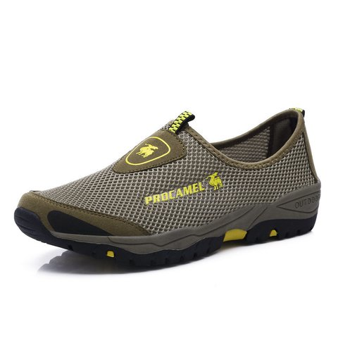Men Mesh Fabric Breathable Slip Resistant Outdoor Sneakers