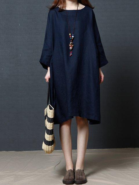 Shift Women Daytime Casual 3/4 Sleeve Casual Dress
