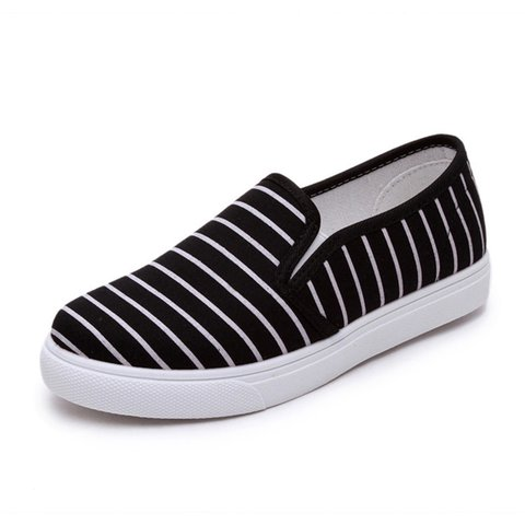 Black Women's Platform Fabric Fashion Sneakers