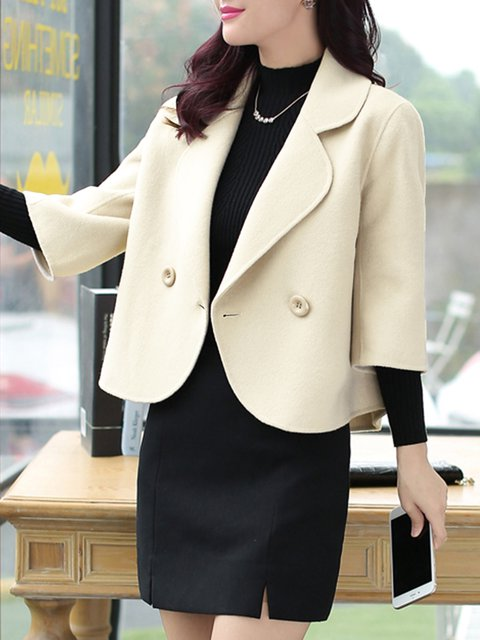 Casual Buttoned Jacket Solid Shawl Collar aaAXw