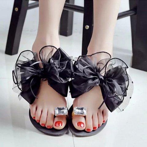 Rhinestone Women's Slip-On Sandals