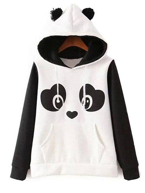 Jersey Long Sleeve Panda Print Cute Hoodie