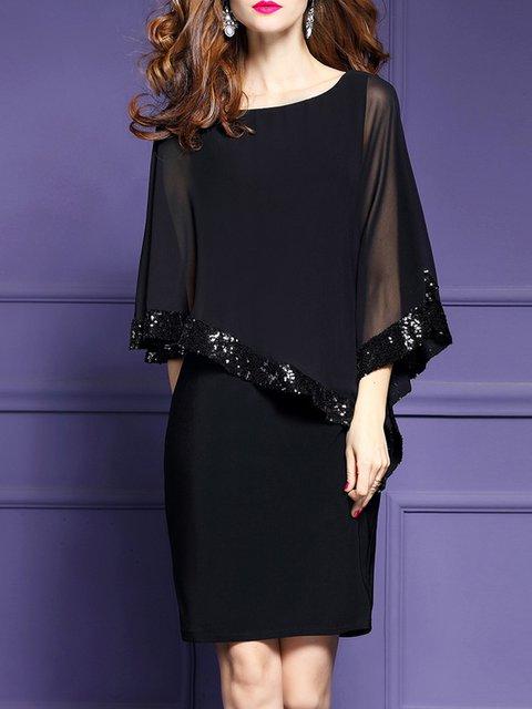 Shift Women Daytime Chiffon Batwing Elegant Dress